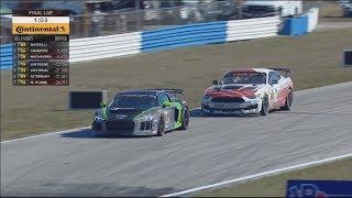 IMSA Continental Tire SportsCar Challenge 2018. Sebring International Raceway. Final Lap