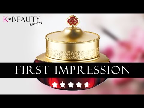 [REVIEW] The History Of Whoo Jinyul Cream. First impression Korean skin care  K-beauty Europe