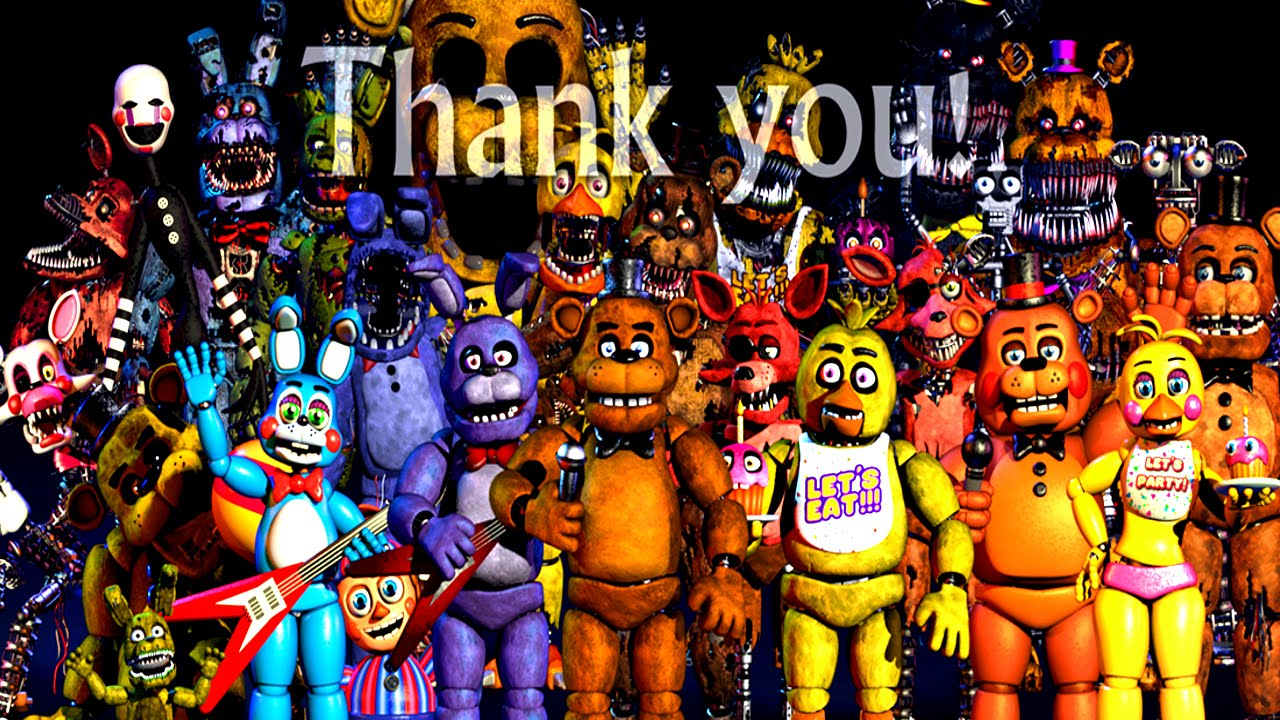 five nights at freddy s all animatronics 4 3 2 1 jumpscares