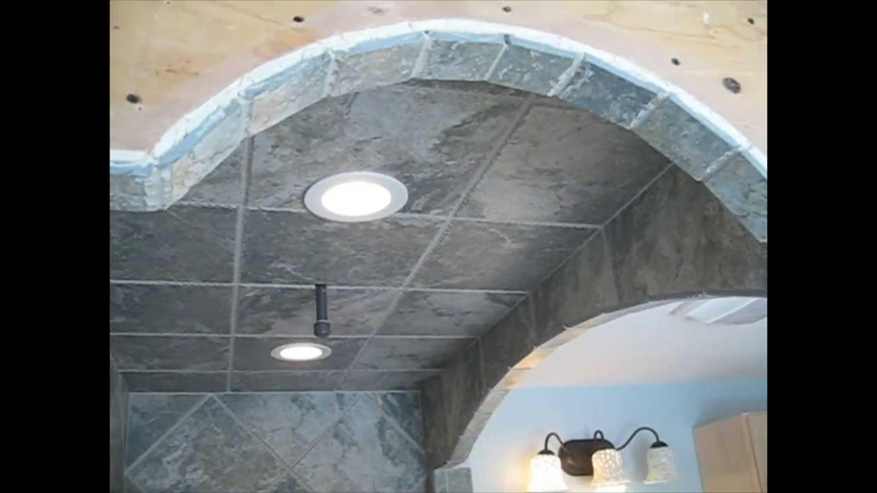 Diagonal Tile Bathroom Shower Stall Youtube