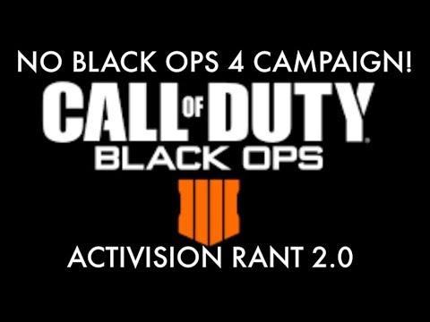 No Black Ops 4 Campaign? Activision Rant 2.0