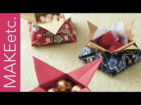 How to make Origami Sweet Treats Gift Boxes - Kids' craft idea for Mother's Day and more!