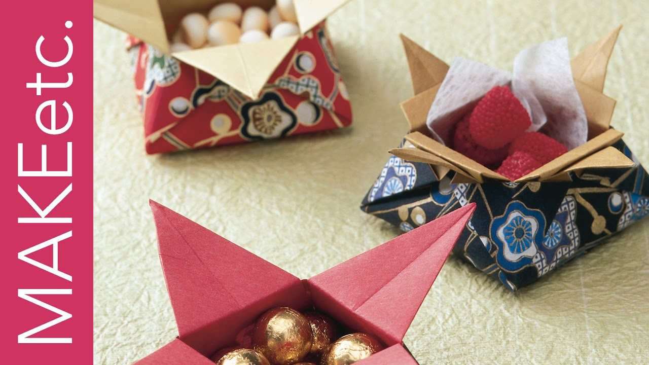 How To Make Origami Sweet Treats Gift Boxes Kids Craft Idea For