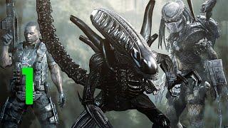 Aliens vs Predator Прохождение (Чужой) Часть 1