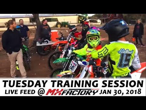 Tuesday Motocross Training LIVE FEED - Jumping Technique - Watch & Learn! January 30, 2018