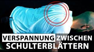 Verspannung zwischen den Schulterblättern lösen - Schulter neu ausrichten