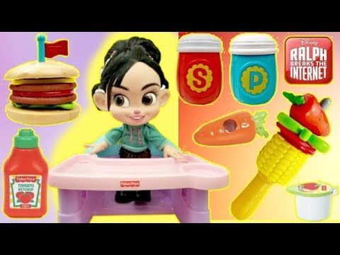 Vanellope Eats Fisher Price Stacking Burger Play Set Pretend Food