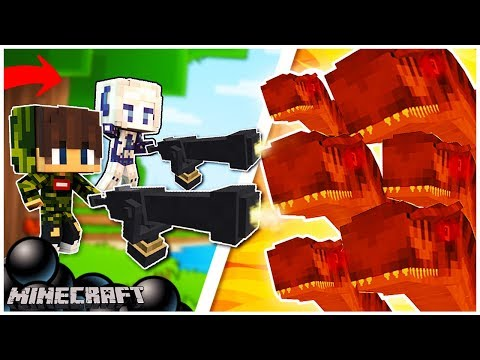 Minecraft: ARMATY VS DINOZAURY (JurassiCraft Mod) - Maxi & Mini [#1]