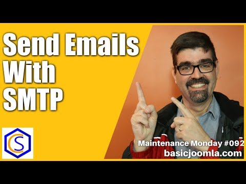 Use SMTP To Send Your Joomla Site Emails 🛠 Maintenance Monday Live Stream #092