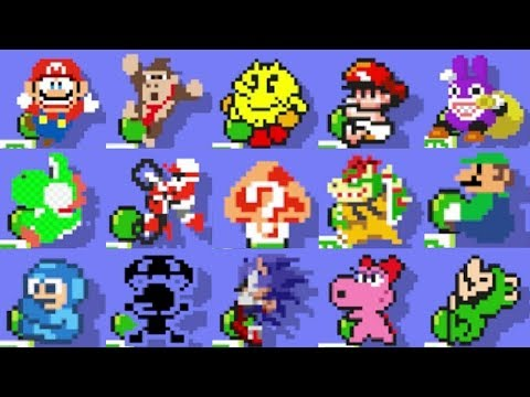 Super Mario Maker - All Character Victory Animations & Sound Effects