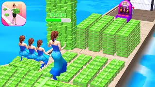 MONEY RUN 3D! game MAX LEVEL 🌈🤑💚 Gameplay All Levels Walkthrough iOS, Android New Game Casual Mobile screenshot 5