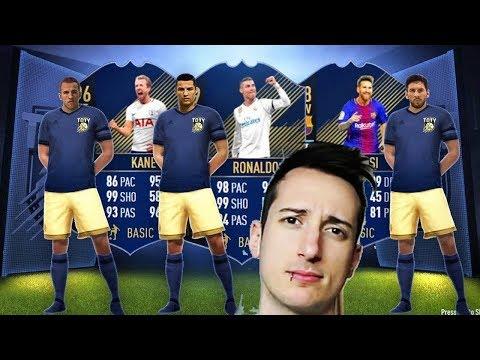 RONALDO MESSI E KANE TOTY!! (LA GUERRA DEI TOTY !! ) PACK OPENING FIFA 18