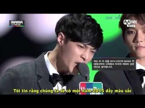 [Vietsub] 141203 Lay speech cut - MAMA 2014 [HONEYIXING]
