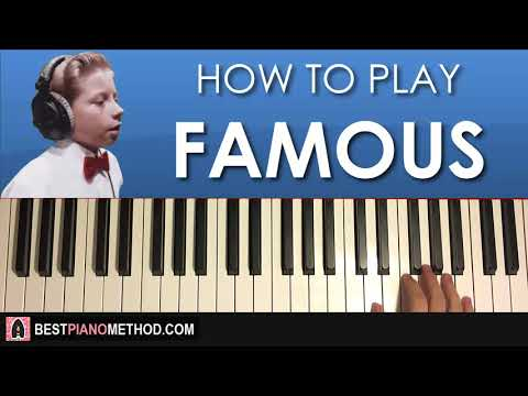 HOW TO PLAY - Mason Ramsey - Famous (Piano Tutorial Lesson)