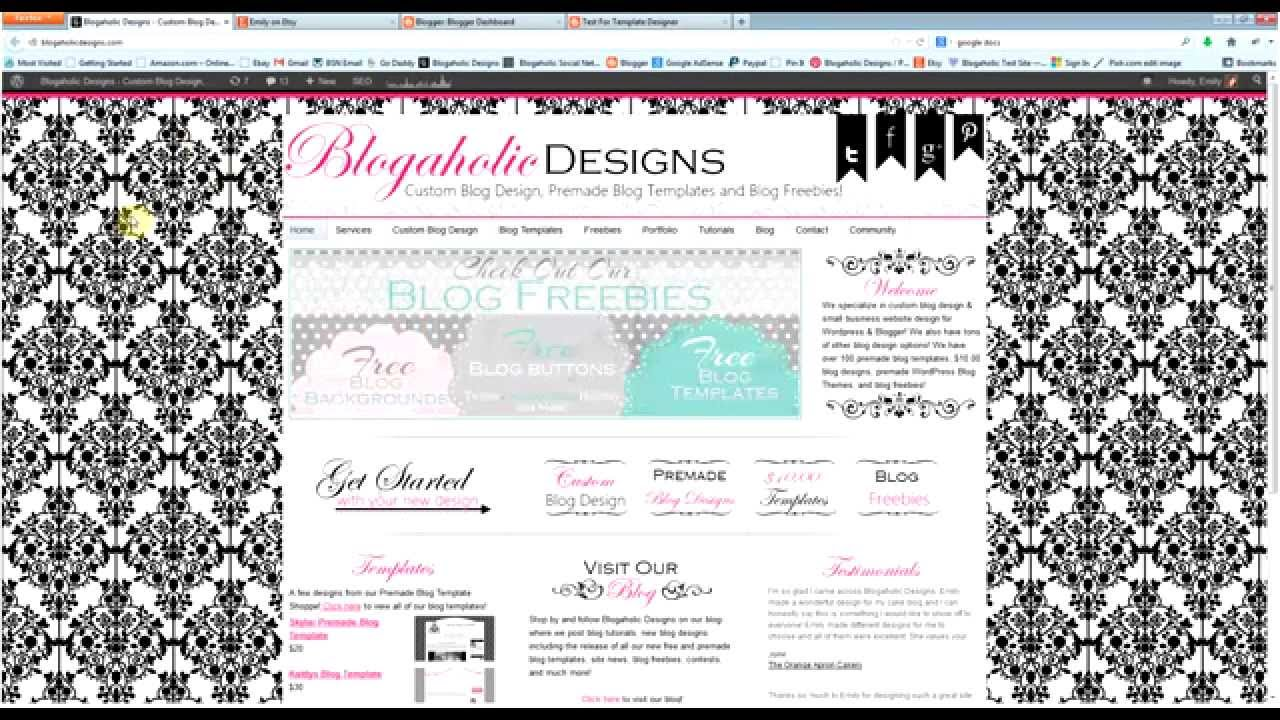How to Install Premade Blog Templates Purchased from Blogaholic ...