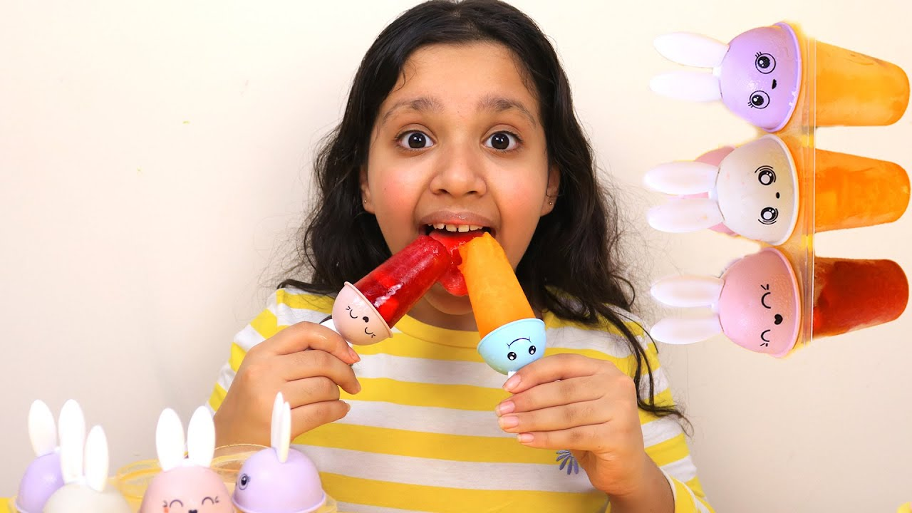 شفا صنعت ايسكريم بالفواكه Makes Fruit Popsicles