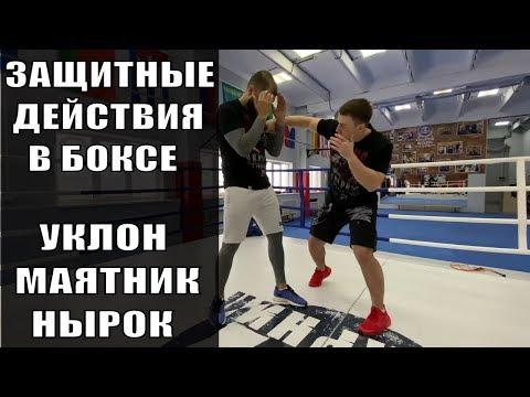 Уклоны в боксе. Нырки в боксе. Маятник в боксе. Защитные действия в боксе.  Работа с маятником