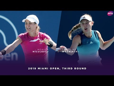 Monica Niculescu vs. Caroline Wozniacki  | 2019 Miami Open Third Round | WTA Highlights