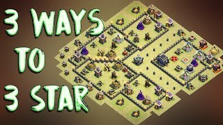3 Way Of 3 Starring This Popular TH9 ( Town Hall 9 ) War Base ( Internet Base ) | Clash Of Clans