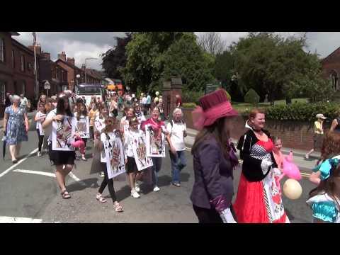Stone Festival carnival parade 2014, Stone, Staffordshire