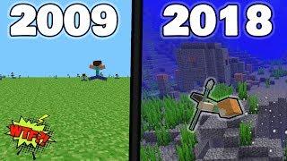 HISTORIA MINECRAFTA - Od najstarszej wersji do najnowszej!!  - Minecraft PL