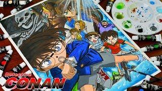 Drawing Detective Conan - Conan Edogawa / Shinichi Kudo (名探偵コナン: 紺碧の棺) Watercolor Painting