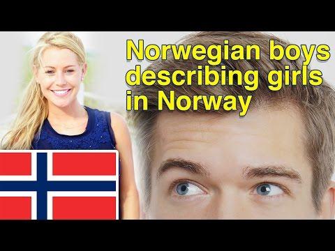 How Norwegian boys describe girls in Norway?