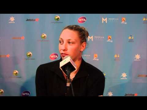Yanina Wickmayer press conference: Moorilla Hobart International 2012
