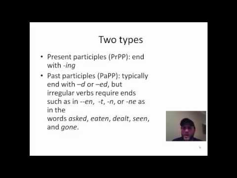 Present And Past Participle Phrases Part 1 Youtube