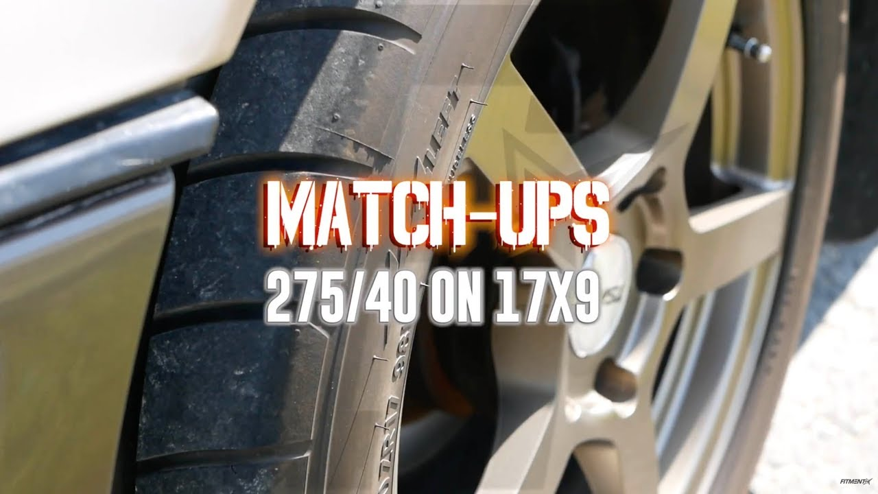 Wheel Match Up 275 40 On A 17x9 Tsw On Nitto Nt555 Youtube