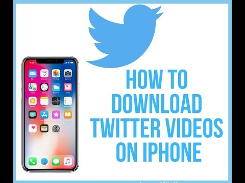 How to save twitter dm videos on iphone