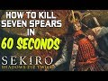 SEKIRO BOSS GUIDES - How To Easily Kill Seven Ashina Spears in 60 Seconds!