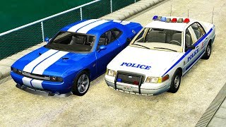 REALISTIC POLICE CHASES #5 - BeamNG drive