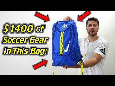 $1400 Worth of the Best Soccer Gear! - What's In My Soccer Bag - July 2017