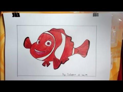 การ์ตูน ปลานีโม่ วาดภาพระบายสี Nemo Drawing