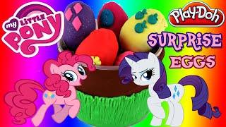 ♥ My Little Pony Play-doh Surprise Eggs Unboxing Mlp Playdoh Basket Surprises Eggs