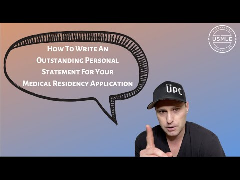 How To Write A Great Residency Personal Statement