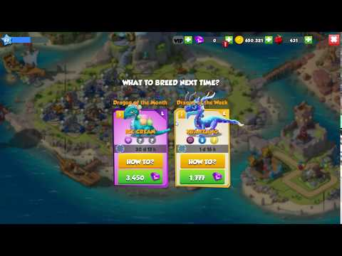 Dragon Mania Legends -  How To Breed Ice Cream Dragon