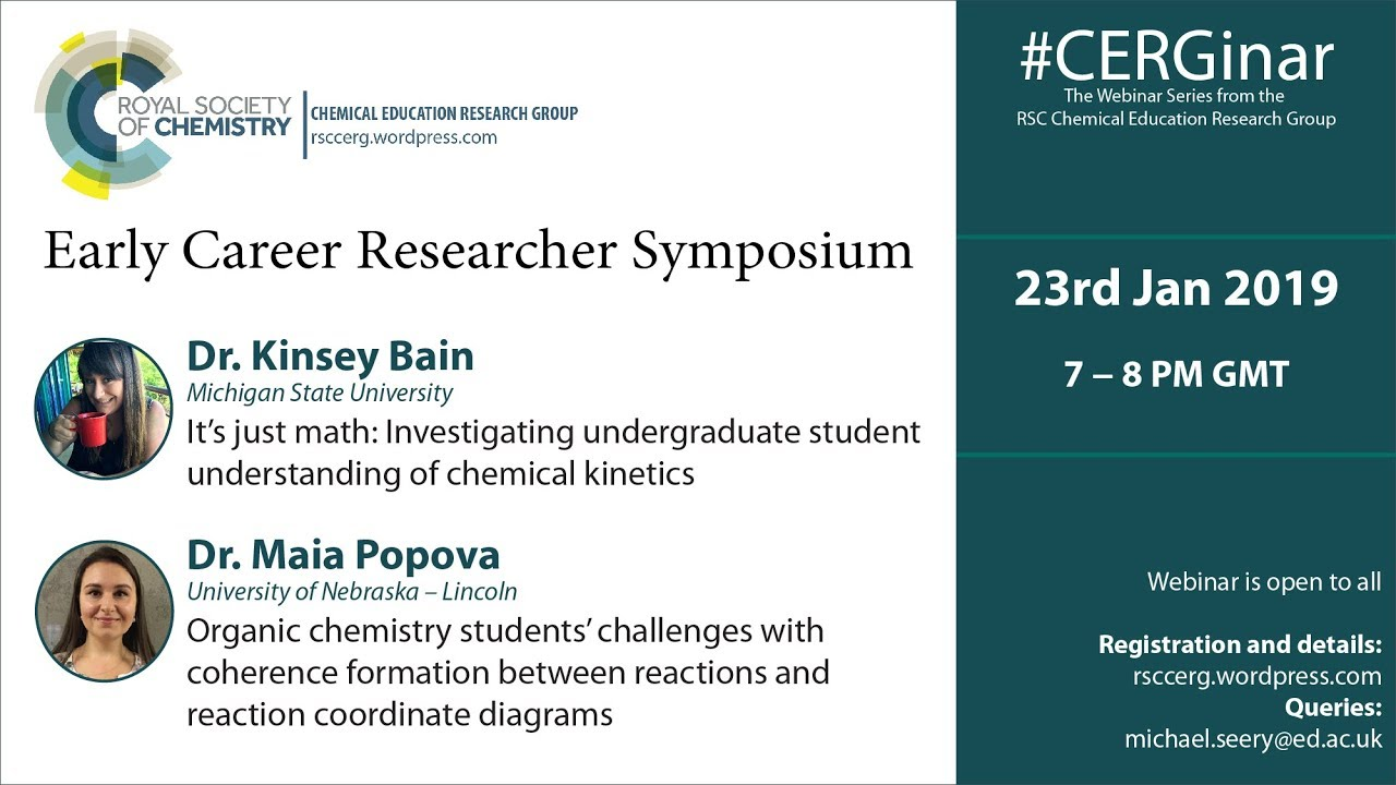 Kinsey Bain webinar - Investigating undergraduate student understanding of chemical kinetics