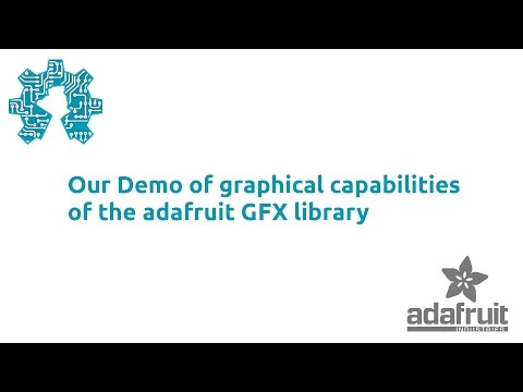 Our Demo of graphical capabilities of the adafruit GFX