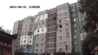 Донецк ж/д дом после попадания снарядов