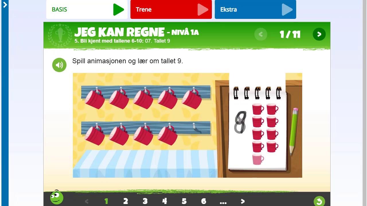 Jeg kan regne 1-4: Lær om tallet 9
