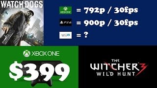 xbox one 399   watch dogs final res fps   the witcher 3 news