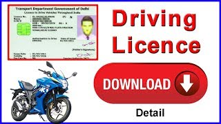 Gambar cover driving licence Download Online For All State