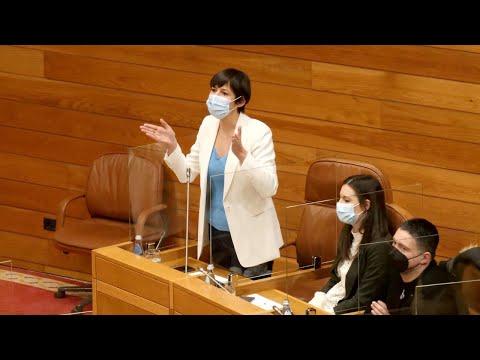 Ana Pontón a Feixoo: Galiza necesita ambicións e proxectos e vde tráenos un PowerPoint de 12 páxinas