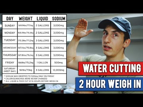 how to cut weight for 2 hour weigh in
