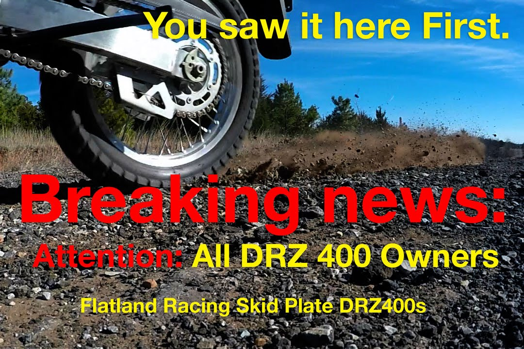 Flatland Racing Skid Plate, Best Skid Plate Made for DRZ