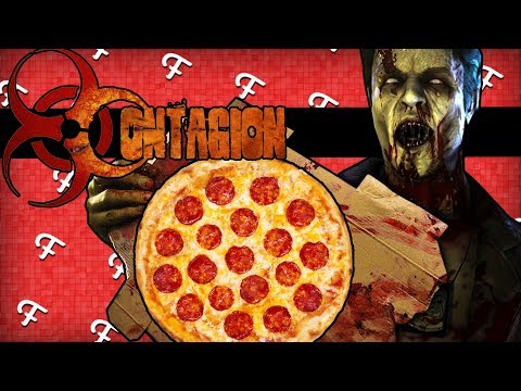 Contagion: Pizza Delivery Zombie Man Prank, Gas Masks, FranDaMan1 Mansion! (Comedy Gaming)