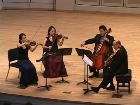Afiara Quartet plays Haydn Op 76, No. 5, mvt. I