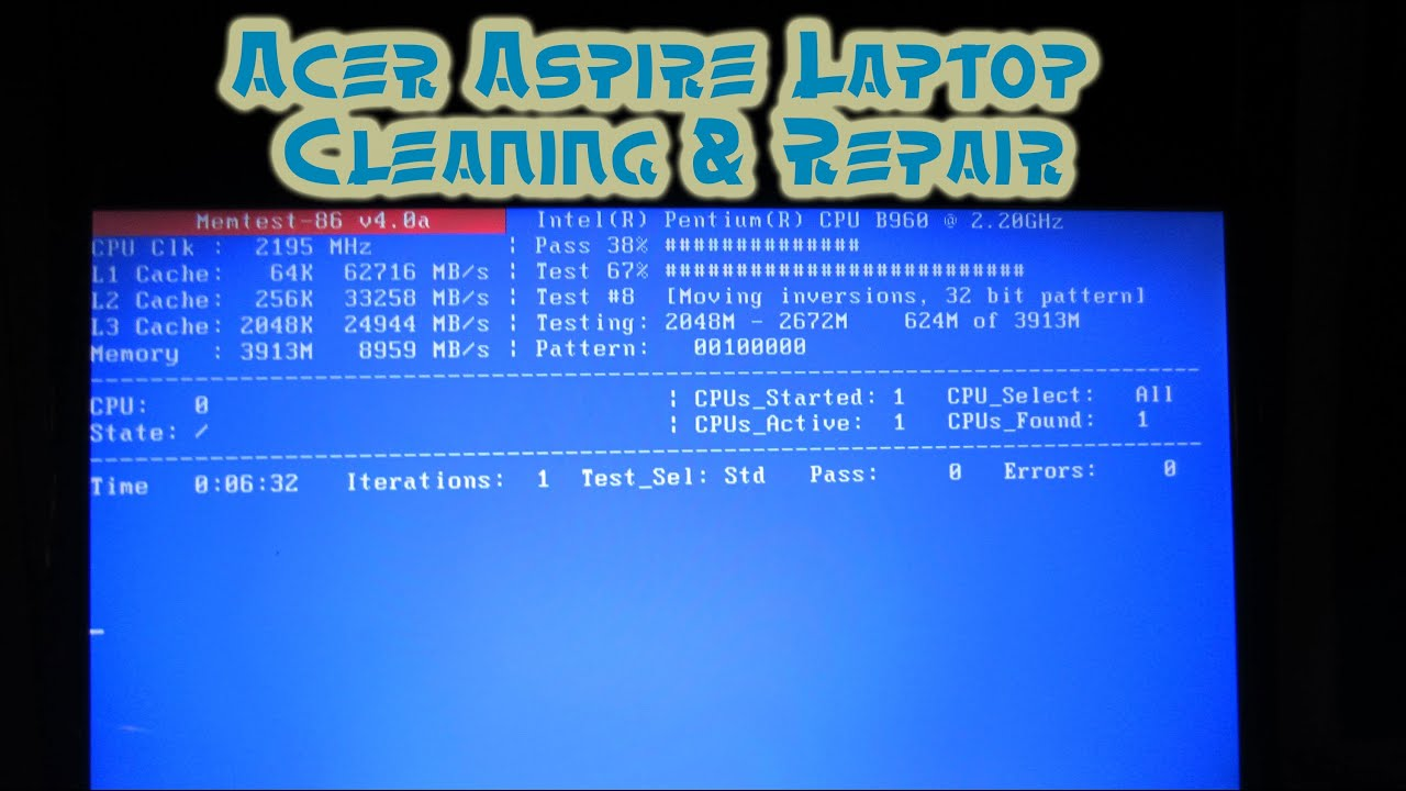 Acer V3 Laptop Diagnosis And Repair A Helpful Video For Cleaning Up Spyware Viruses